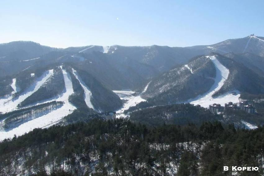 корейский горнолыжный курорт