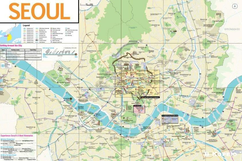 туристическая-карта-Сеула